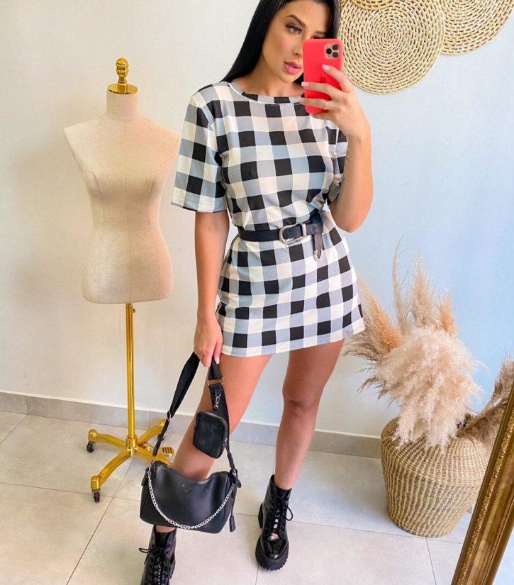 jjoficial com br vestido curto xadrez