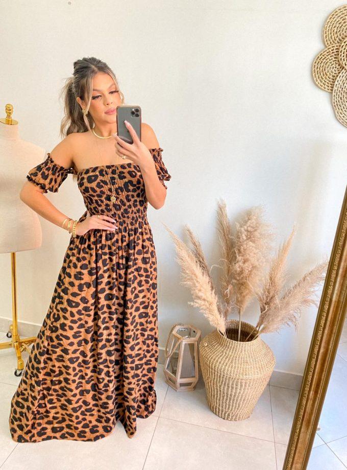 jjoficial com br vestido longo de lastex animal print